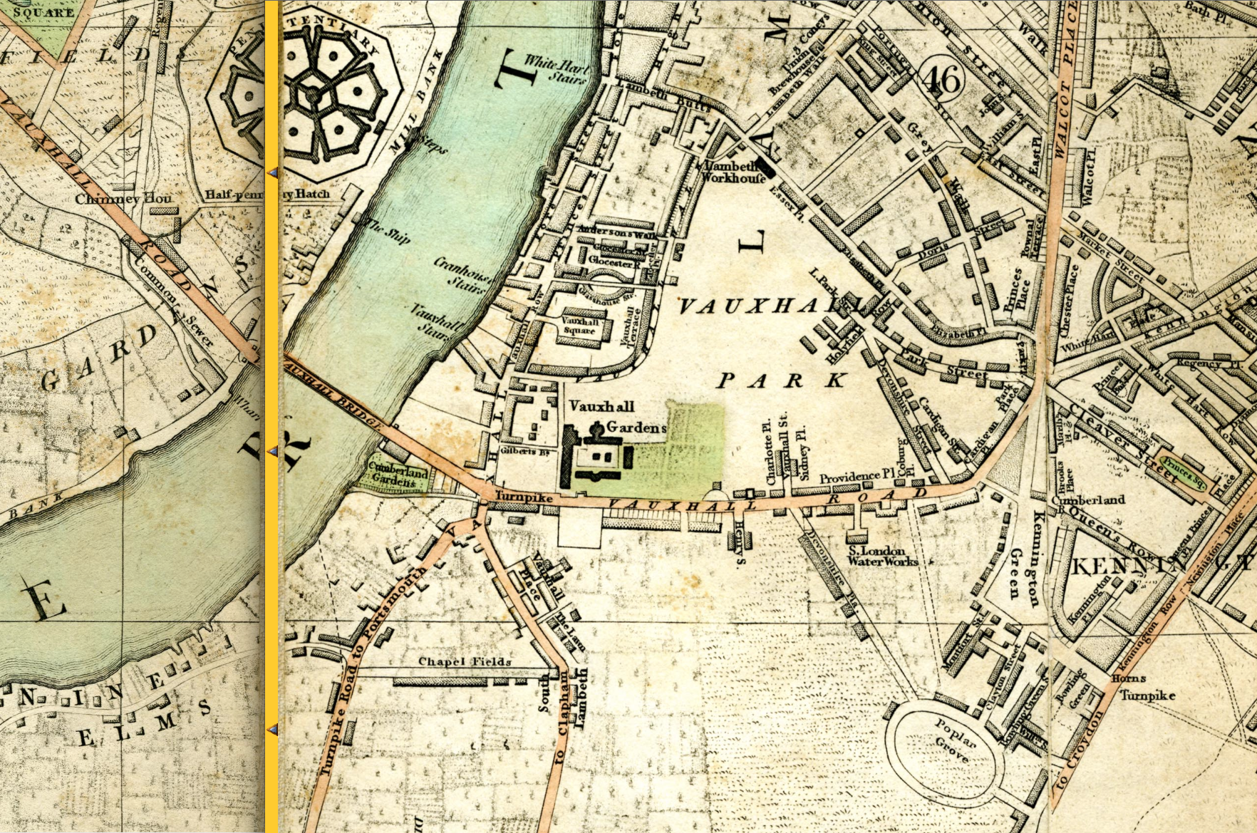 Vauxhall Kennington the Oval Maps – Map of London by Area