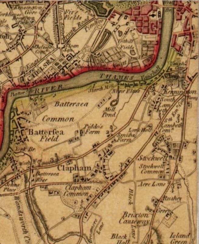 Map Of Uk 1800.Vauxhall Kennington The Oval Maps