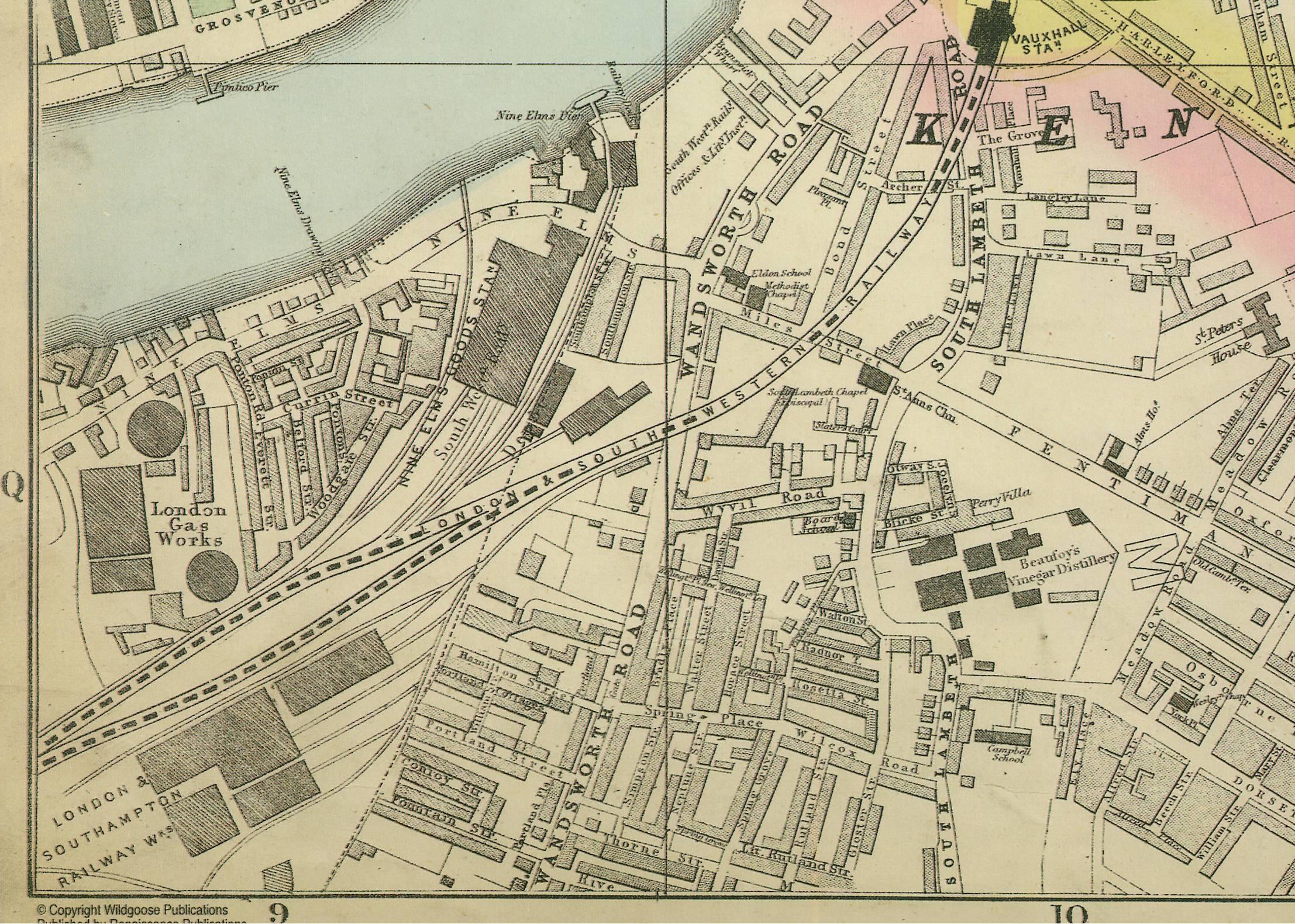 Old Street London Map.Vauxhall Kennington The Oval Maps