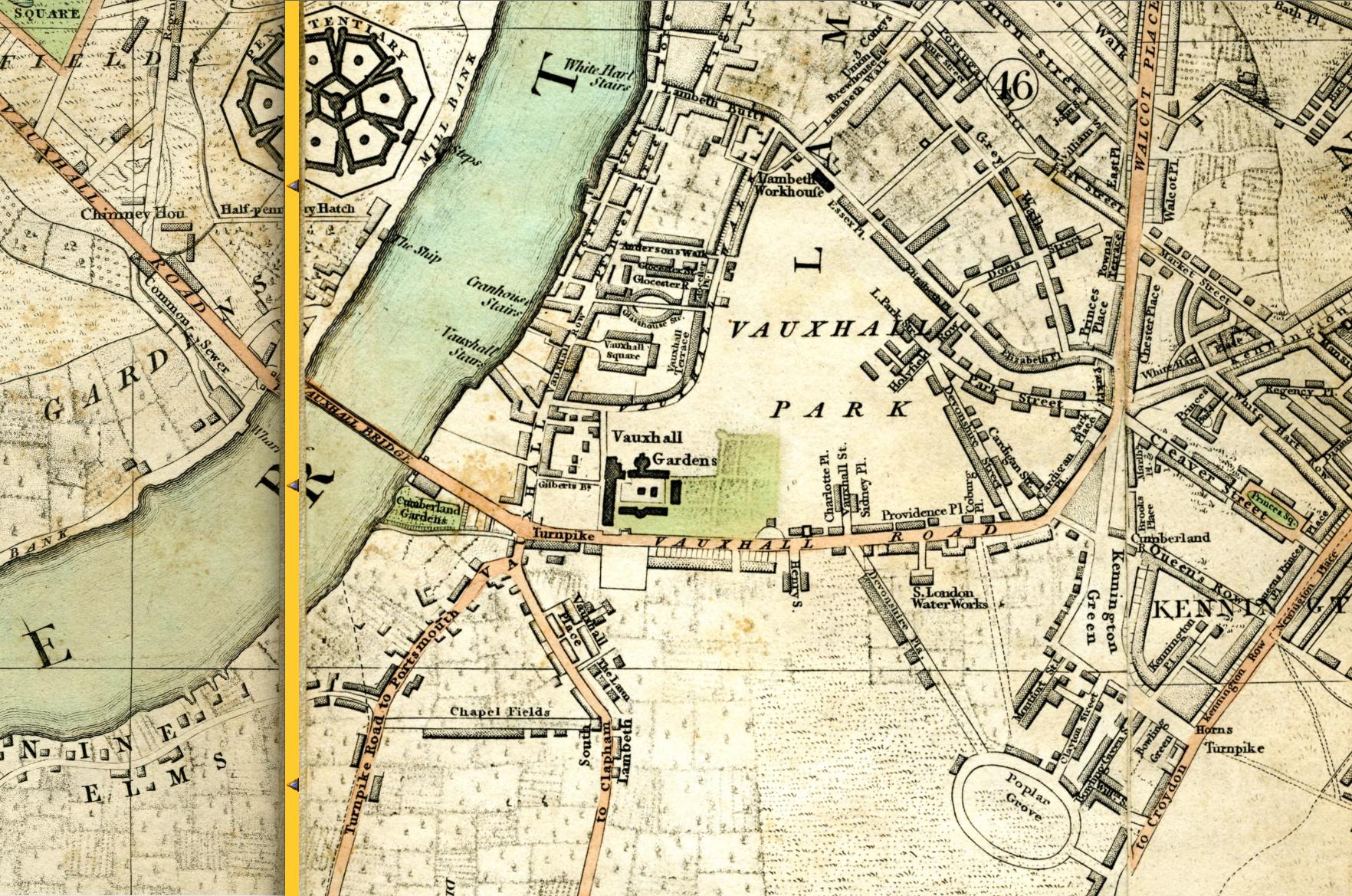 Vauxhall Kennington The Oval Maps